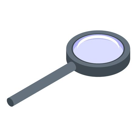 Quest magnifier icon, isometric style