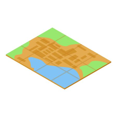 Quest map icon, isometric style Vettoriali