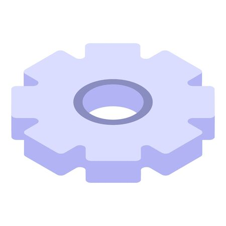 Gear wheel manager icon, isometric style Vettoriali