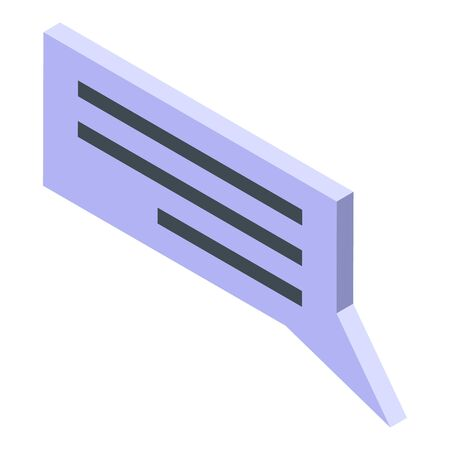 Manager chat icon, isometric style Vettoriali