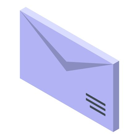 New mail manager icon, isometric style