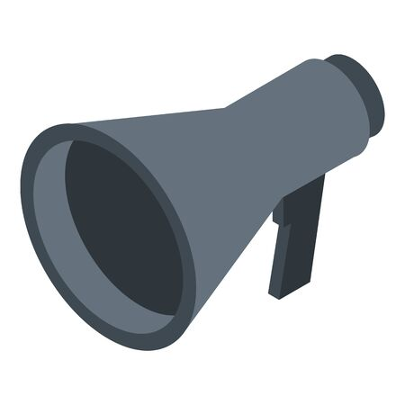 Guide excursion megaphone icon, isometric style