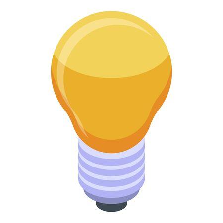 Bulb idea business icon, isometric style