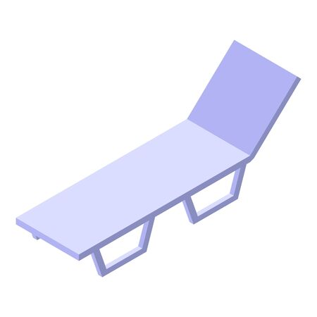 Beach chair icon, isometric style
