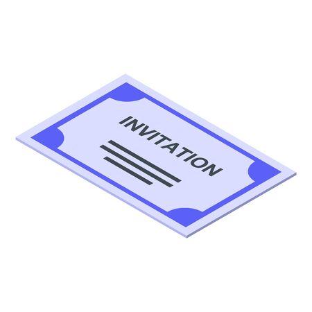 Wedding invitation icon, isometric style