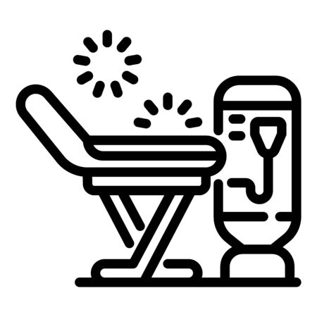 Laser remove hair armchair icon, outline style