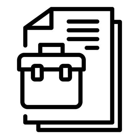 Personal manager document icon, outline style Ilustração