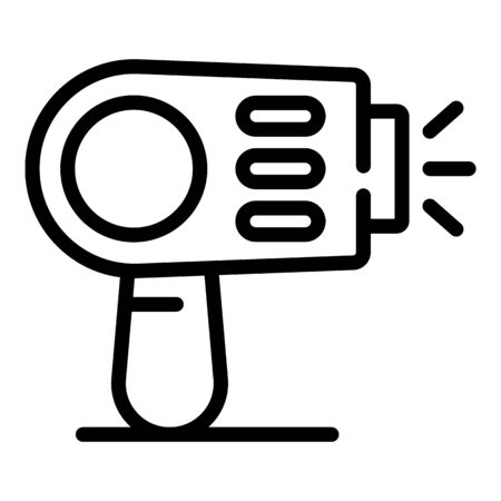 Clean laser hair removal icon, outline style