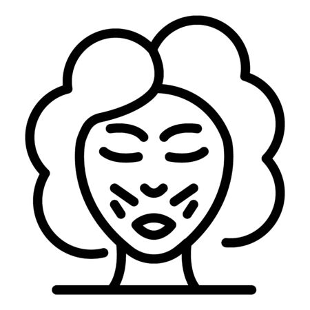 Laser face hair removal icon, outline style