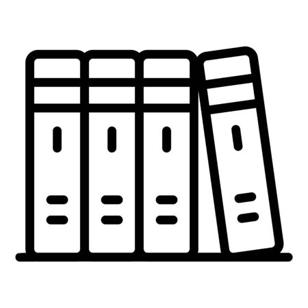 Office folder stack icon, outline style