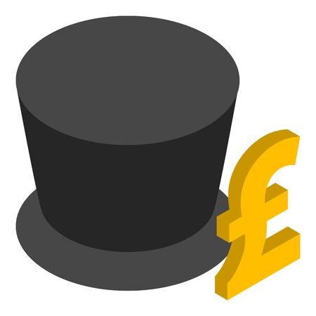 Finance concept icon, isometric style Ilustração