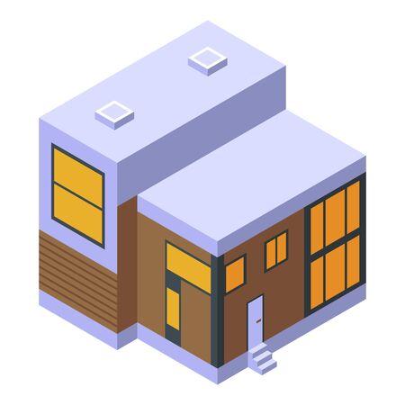 Summer cottage icon, isometric style