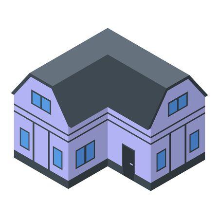 Comfort cottage icon, isometric style