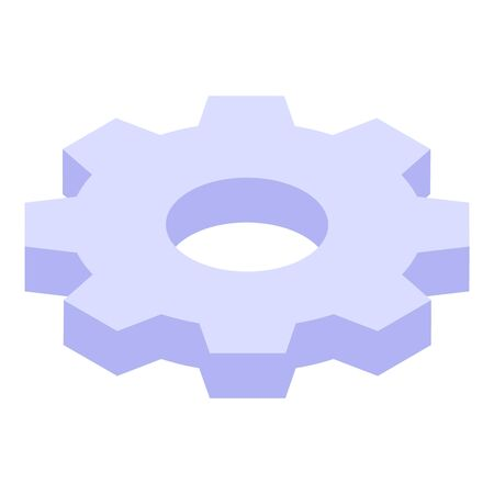 Gear process icon, isometric style