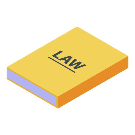 Law book icon, isometric style