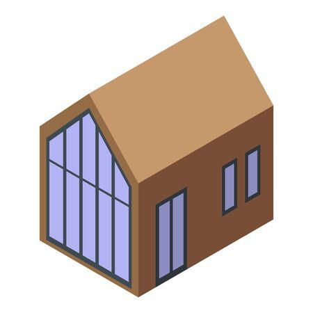 Cottage icon, isometric style Vetores