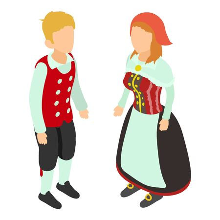 Traditional costume icon. Isometric illustration of traditional costume vector icon for web