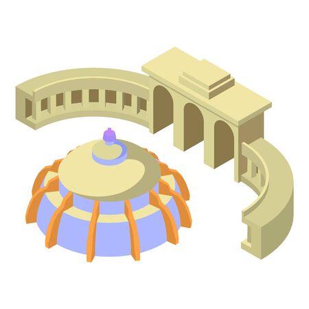 Belgium landmark icon. Isometric illustration of belgium landmark vector icon for web Illusztráció