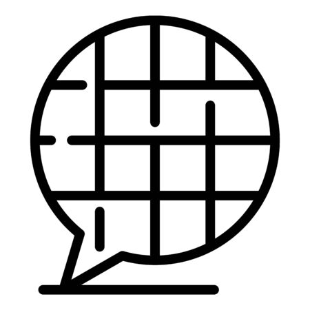 Chat translator icon. Outline chat translator vector icon for web design isolated on white background Vektorgrafik