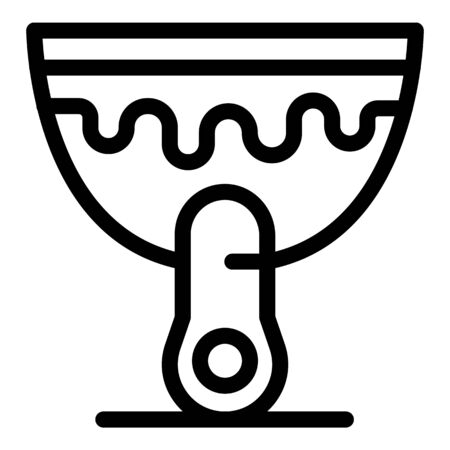 Scraper putty knife icon, outline style Illustration