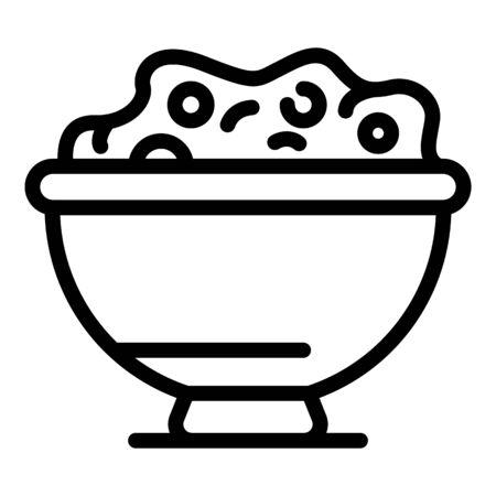 Milk flakes icon, outline style Ilustração