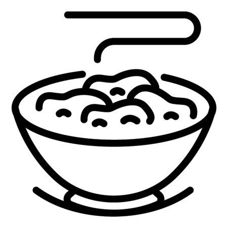 Grain flakes icon, outline style