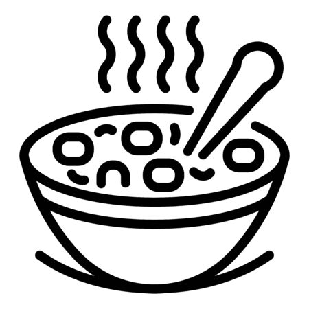 Hot wheat flakes icon, outline style