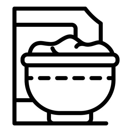 Cereal flakes icon, outline style
