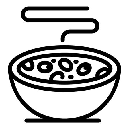 Protein cereal flakes icon, outline style