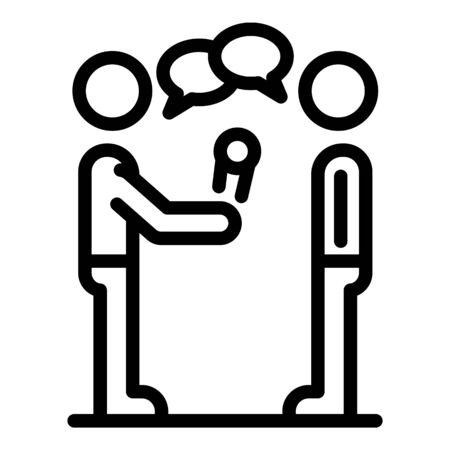 Street live interview icon, outline style