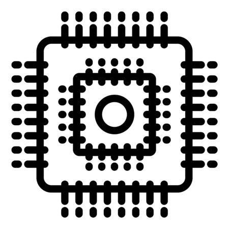 Engineer processor icon, outline style