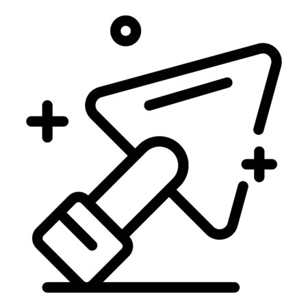 Clean trowel icon, outline style