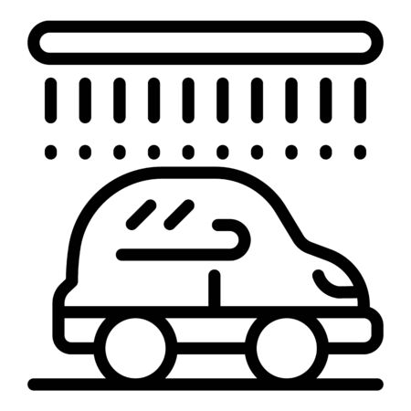 Automatic car wash icon, outline style