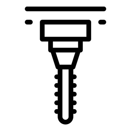 Labor milling machine icon, outline style
