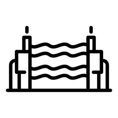 Radio wave device icon, outline style Ilustración de vector