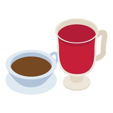 Swedish drink icon. Isometric illustration of swedish drink vector icon for web