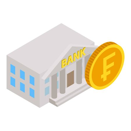 Swiss bank icon. Isometric illustration of swiss bank vector icon for web