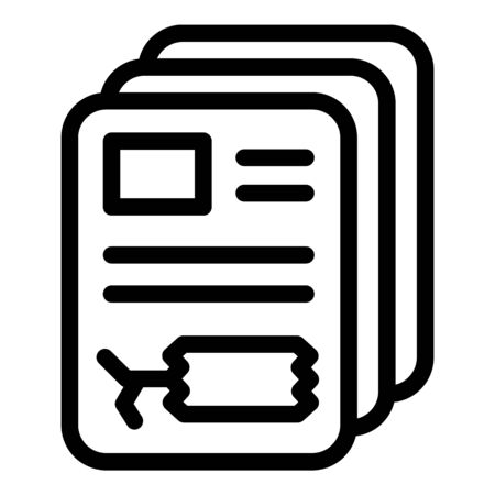 Price tag sticker icon, outline style Illustration