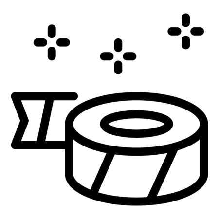 Price tag tape icon, outline style