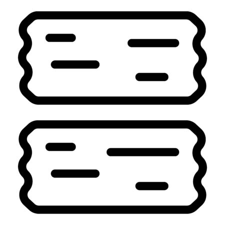 Two pieces of adhesive tape icon, outline style Stock Illustratie