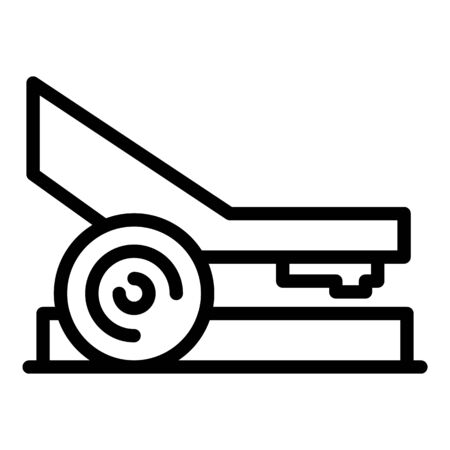 Powerful hole punch icon, outline style