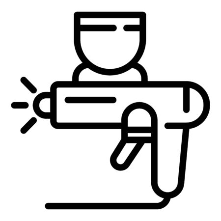 Car paint pistol icon, outline style  イラスト・ベクター素材