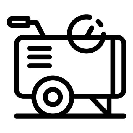Air compressor cart icon. Outline air compressor cart vector icon for web design isolated on white background