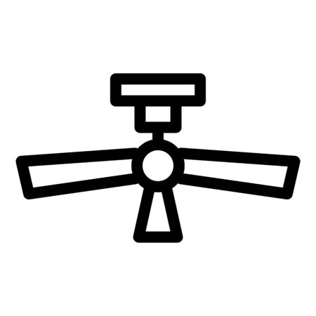 Ceiling fan icon. Outline ceiling fan vector icon for web design isolated on white background