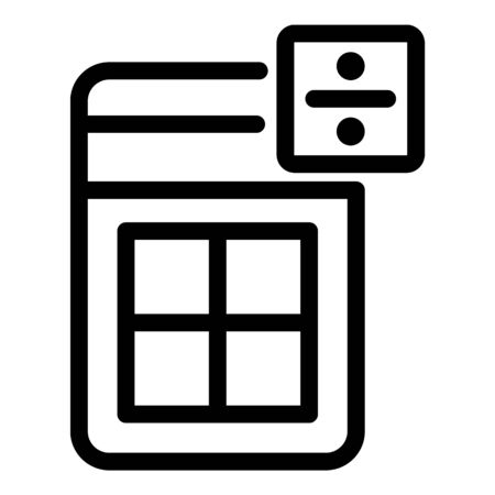 Personal calculator icon, outline style