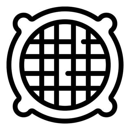 Round ventilation grids icon. Outline round ventilation grids vector icon for web design isolated on white background 向量圖像