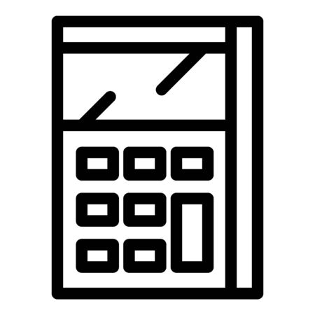 Calculator math device icon, outline style