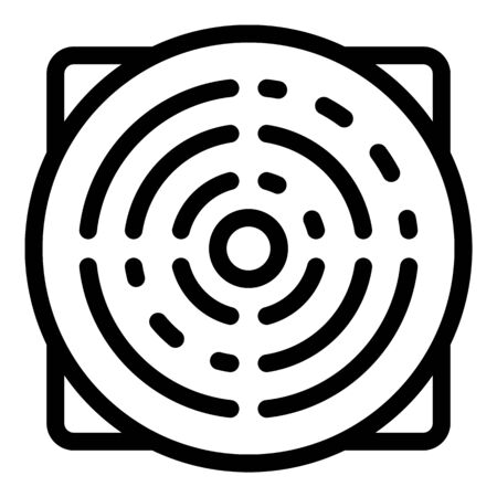 Ventilation panel icon, outline style