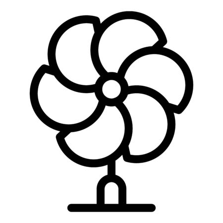 Multi blade propeller icon, outline style