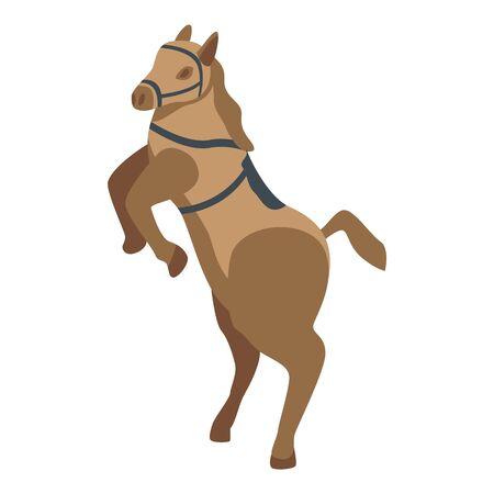 Circus horse icon, isometric style